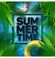 summer with float and tropical palm vector image vector image
