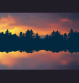 sunset realistic nature background vector image