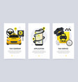 taxi vertical banners set vector image vector image