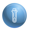 test tube icon outline style vector image vector image