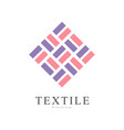 textile original logo creative sign for company vector image vector image
