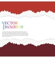 torn paper layered vector image vector image