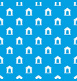 toy house pattern seamless blue vector image vector image