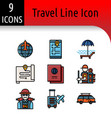travel accessory linear icon vector image vector image
