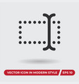 type icon in modern style for web site and mobile vector image