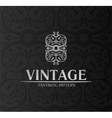 Vintage decor label ornament background emblem vector | Price: 1 Credit (USD $1)