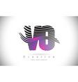 vo v o zebra texture letter logo design vector image vector image