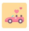 wedding car flat icon vector image