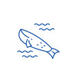 whale in the ocean line icon concept whale in the vector image vector image