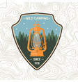 wild camping patch concept for shirt vector image vector image
