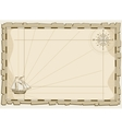 Vintage map background invitation template vector image