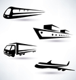 cargo transportation icons set logistics concept vector image