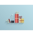 flat gifts background Eps10 vector image