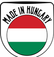 Made in Hungary rubber stamp vector image