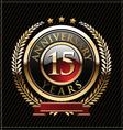 15 years anniversary golden label