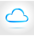 Abstract blue cloud on gray background vector image vector image