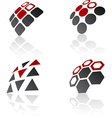 Abstract design elements vector image vector image