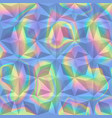 abstract holographic geometric seamless pattern vector image