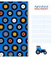 agricultural vehicle and different wheels of farm vector image vector image