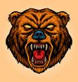 angry bear cartoon mascot aggressive vector image vector image