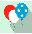 balloons in usa flag colors flat icon vector image vector image