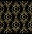 baroque embroidery seamless pattern greek mandala vector image vector image