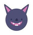 bat face cartoon icon design vector image
