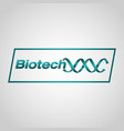 biotechnology logo icon design vector image