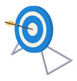 blue white target icon isometric style vector image vector image