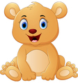 Brown bear cartoon vector image