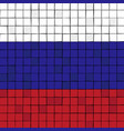 card stunt or mosaic flag of russia vector image vector image