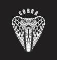 cobra snake design element for logo label sign vector image vector image