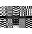 collection of seamless geometric patterns vector image vector image