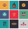 Collection of vintage bakery and cafe labels vector image vector image