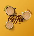 cup coffee 2 vector image vector image