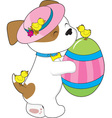 Cute Puppy Easter Egg vector image vector image