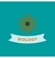 flat icon on background biology molecule vector image vector image