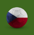football soccer ball with the national flag vector image vector image