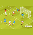 football training kids background vector image