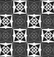 Geometrical Arabian ornament black and white with vector image vector image