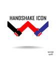 Handshake abstract sign design vector image vector image