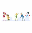 happy international children play outdoors vector image