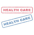 health care textile stamps vector image vector image