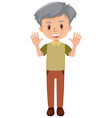 healthy elderly man on white background vector image vector image