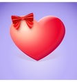 Heart With Red Bow vector image vector image