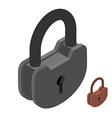 Iron lock Large heavy padlock Big vintage latch vector image