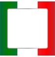 italian flag card frame vector image vector image