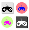 joystick flat icon vector image