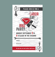 Labor day BBQ invitation card vector image