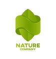 letter n nature logo vector image vector image